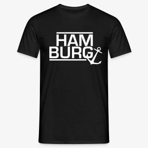 Hamburg / Anker Männer T-Shirt schwarz, blau, rot - Männer T-Shirt