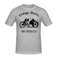 Tee shirts ~ Tee shirt près du corps Homme ~ Classic Cafe Racer T-shirt White