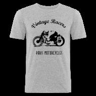 Tee shirts ~ Tee shirt près du corps Homme ~ Classic Cafe Racer T-shirt White