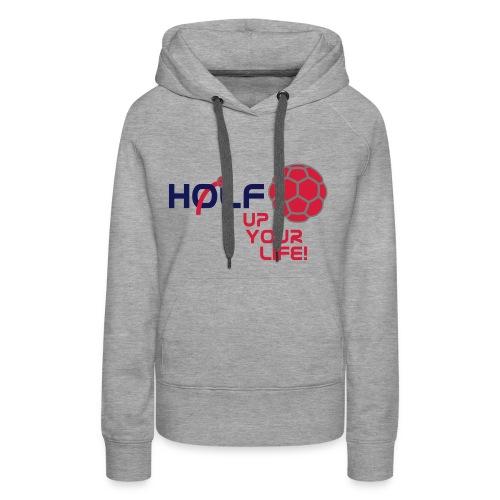 HOLF-Hoodie grey - Frauen Premium Hoodie