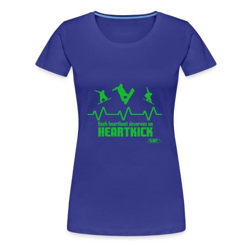 Heartbeat Snowboard - T-shirt Premium Femme