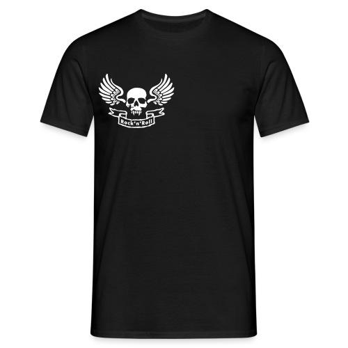 T Shirt Rock ailes d'anges au dos et tête de mort à l'avant - T-shirt Homme