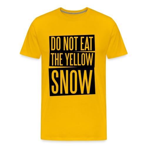 eat yellow snow - Männer Premium T-Shirt