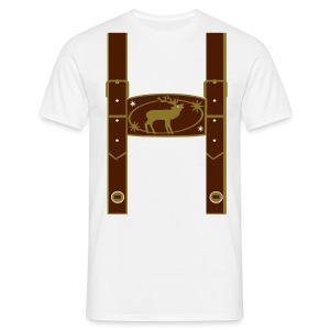 Lederhose Golddruck - Männer T-Shirt