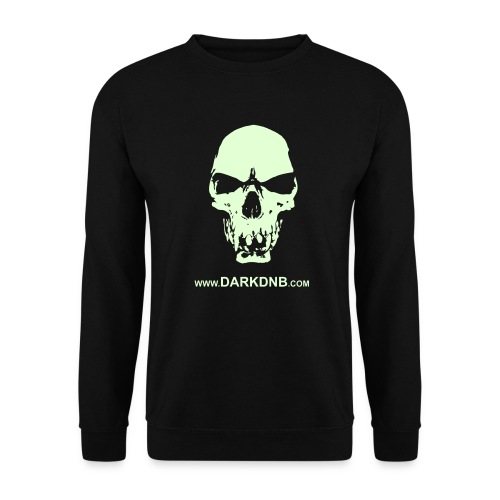 Glow in the Dark Skull Men's Sweatshirt - Men's Sweatshirt