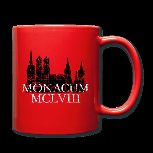 Monacum 1158 Skyline Vintage München Tasse - Tasse einfarbig