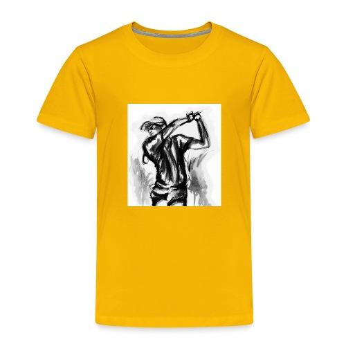 Golf, le swing en aquarelle - T-shirt Premium Enfant