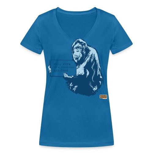 Glenn Doherty T - Vrouwen bio T-shirt met V-hals van Stanley & Stella