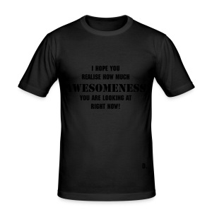 The D Shirt Tight Awesome - Men's Slim Fit T-Shirt
