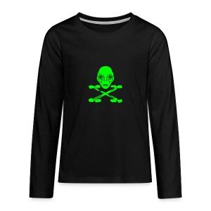 Grüner Pirat Alien X Kinder Langarmshirt - Teenager Premium Langarmshirt