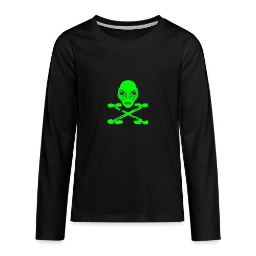 Alien pirate X t-shirt ado manches longues - T-shirt manches longues Premium Ado