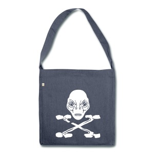 Pirat Alien X recycled Tote Bag - Schultertasche aus Recycling-Material