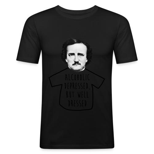 Poe Alcohólico [verde claro] - Camiseta ajustada hombre