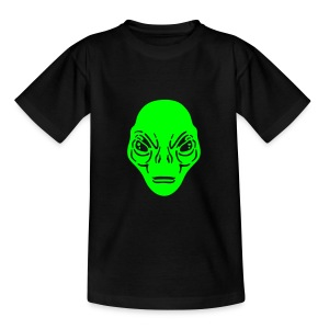 Alien t-shirt ado noir simple - T-shirt Ado