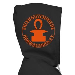 Schmiede-Bombenleger-Sweater ORANGE hinten + vorne - Männer Premium Kapuzenjacke