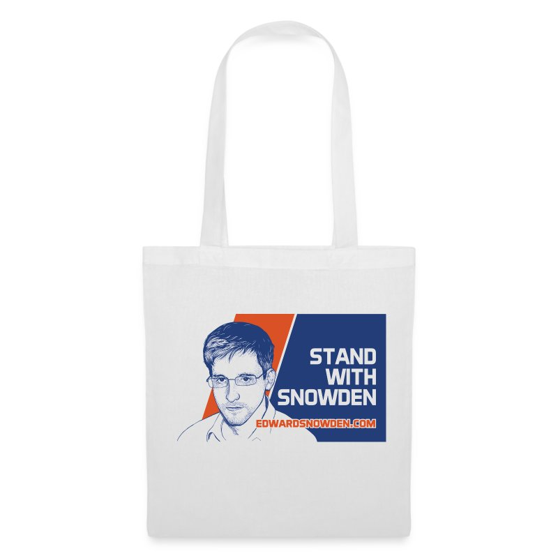 Stand with Snowden tote bag - Tote Bag