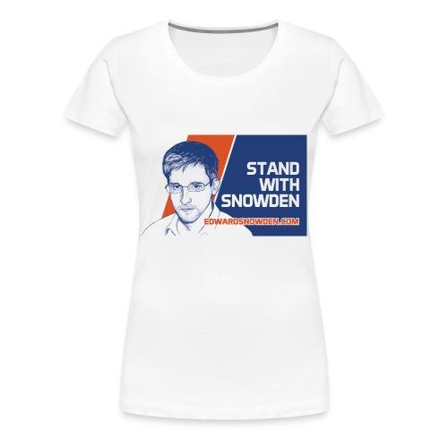 Stand with Snowden Women's T-Shirt - Women's Premium T-Shirt