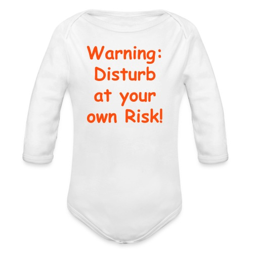 Baby grow - DO NOT DISTURB - Organic Longsleeve Baby Bodysuit