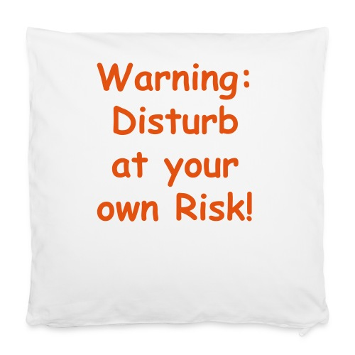 WARNING small PILLOW - Pillowcase 40 x 40 cm