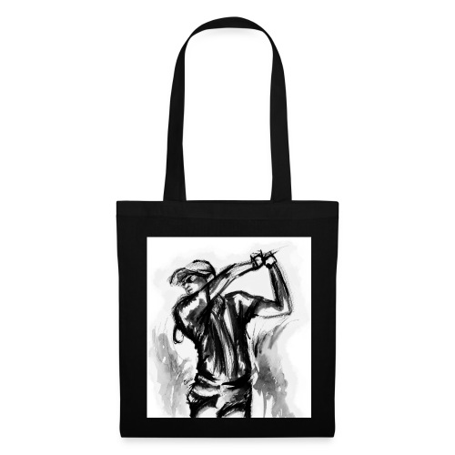 Golf, Le swing en aquarelle - Tote Bag