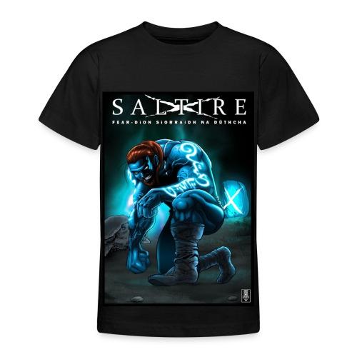 Saltire Ionnsaigh Gaelic Tshirt Older Kids - Teenage T-Shirt