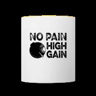 Bouteilles et Tasses ~ Tasse bicolore ~ no pain, high gain! (Mug)
