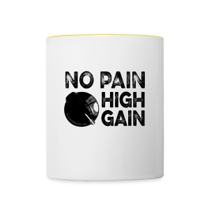 no pain, high gain! (Mug) - Tasse bicolore