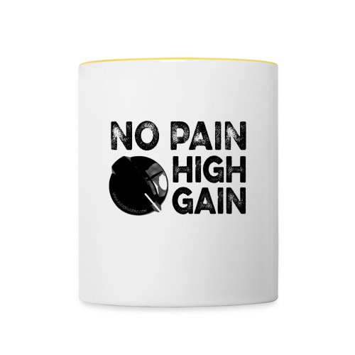 no pain, high gain! (Mug) - Mug contrasté
