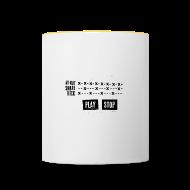 Bouteilles et Tasses ~ Tasse bicolore ~ Grid Pattern (Mug)