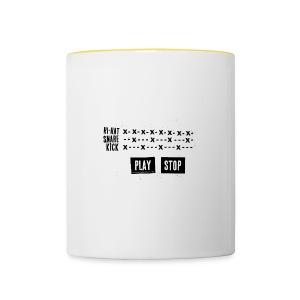Grid Pattern (Mug) - Mug contrasté