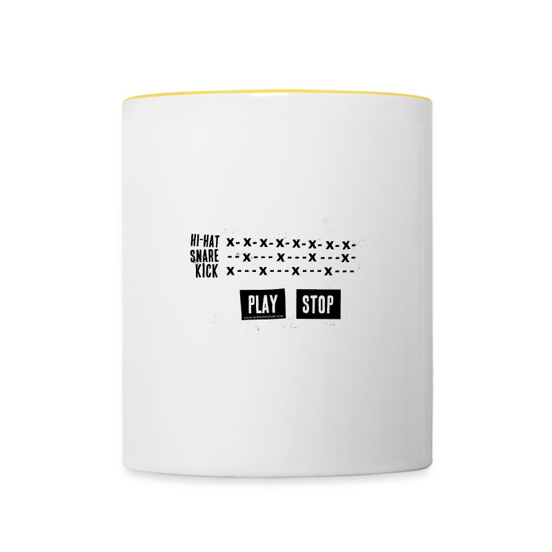 Grid Pattern (Mug) - Tasse bicolore