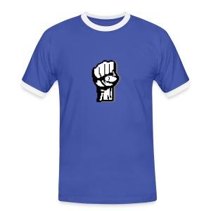 Poing levé pixels t-shirt bordure homme - T-shirt contrasté Homme
