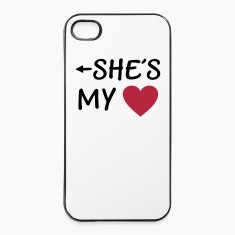 She is my Heart I love my Girlfriend She*s Mine Phone & Tablet Cases