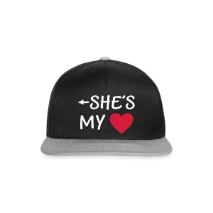 She is my Heart I love my Girlfriend She*s Mine Caps & Hats - Snapback Cap