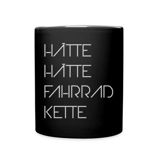 Hätte, hätte, Fahrradkette Tasse / Kaffeepott - Tasse einfarbig