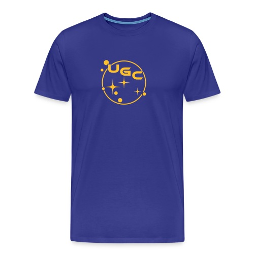 UGC Planet Logo mit Backprint - Männer Premium T-Shirt