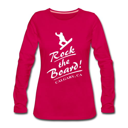 Rock The Board - Frauen Premium Langarmshirt