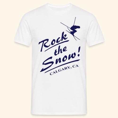 Rock The Snow - Männer T-Shirt