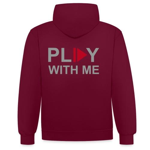 Hoodie - Play with Me - Contrast hoodie