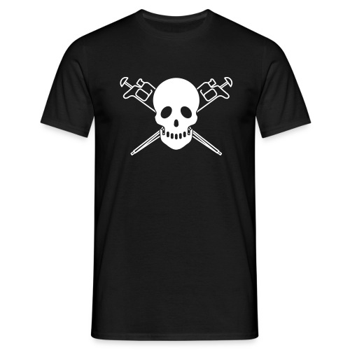 YellowIbis.com 'Biochemistry Symbols' Men's / Unisex Classic T-Shirt: Skull and Pipettes (Black)  - Men's T-Shirt