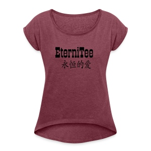 EterniTee - Women's T-shirt with rolled up sleeves