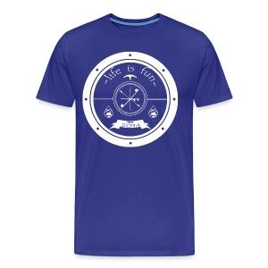 Life is fun design - Mannen Premium T-shirt