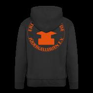 Pullover & Hoodies ~ Männer Premium Kapuzenjacke ~ Schmiede-Vereins-Sweater ORANGE hinten + vorne ohne Kapuzendruck