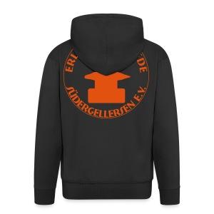 Schmiede-Vereins-Sweater ORANGE hinten + vorne ohne Kapuzendruck - Männer Premium Kapuzenjacke