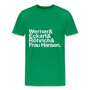 Werner & Eckart Shirt grün - Männer Premium T-Shirt