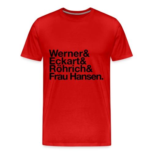 Werner & Eckart Shirt rot - Männer Premium T-Shirt