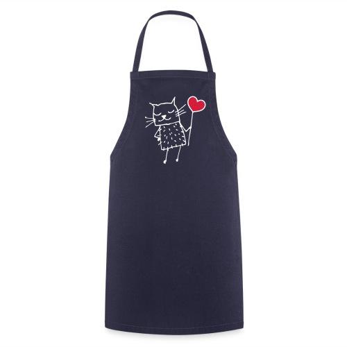 Katze mit Herz - Kochschürze