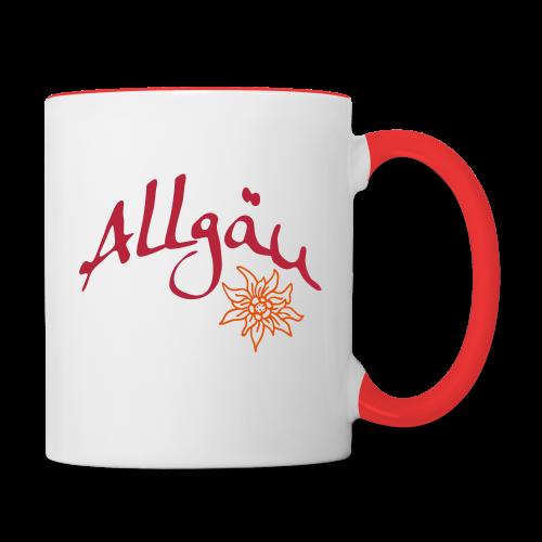Allgäu Tasse Allgäu & Edelweiß - Tasse zweifarbig
