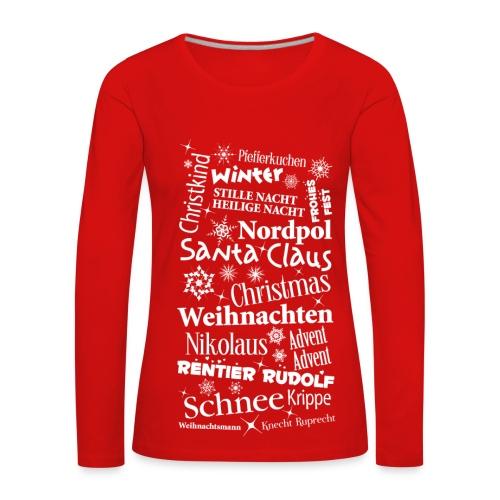 Frauen Langarmshirt Weihnachten Christmas Santa - Women's Premium Longsleeve Shirt