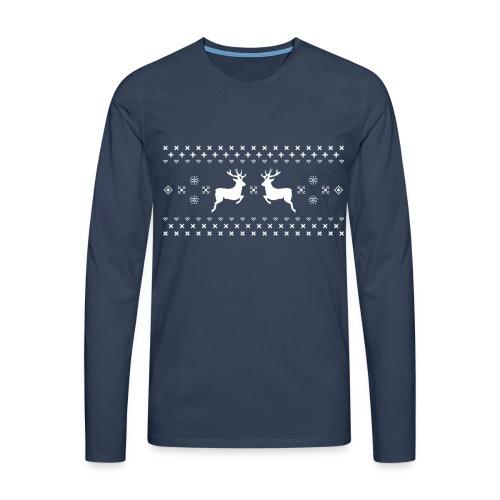 Männer Langarmshirt Norweger Christmas Rentier Winter - Men's Premium Longsleeve Shirt